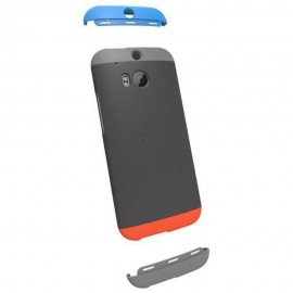 HTC One (M8)  - Чехол накладка Double Dip - Gray/Orange/Blue/Gray - Оригинал