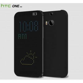 HTC ONE (M8)  - Смарт Чехол DOT VIEW (HC M100) - Black