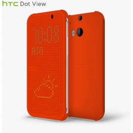 HTC ONE (E8)  - Смарт Чехол DOT VIEW (HC M110) - Orange