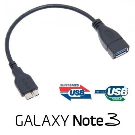 Galaxy Note 3 (N9000) - USB (3.0) Host - переходник MicroUSB (порт USB)